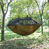 Viajar Tienda De Campaña Al Aire Libre Hamaca Que Cuelga La Cama Para Dormir 300 X 140 Cm -brown
