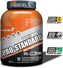 PROCEL Pro-Standard 100% Whey Protein Powder - 2 kg (Double Chocolate Deluxe)