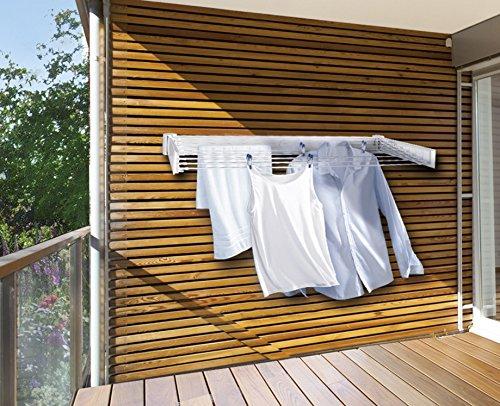 Leifheit Telegant 30 Protect - Tendedero de Pared, 6.7x53x75.4 cm, Color Blanco