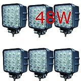 MCTECH 6 X 48W LED luci del lavoro 6000K 67 lampade IP invertendo lavoro della luce 3800lm