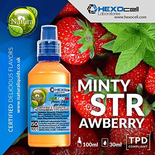 E LIQUID PARA VAPEAR - 30ml Minty Strawberry Menta