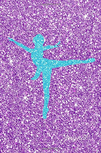 Journal: Turquoise Blue Ballerina Dancer Purple Faux Glitter Lined Paper Dairy Notebook | Gift for Adults and Kids por MSquared Glitter Designs
