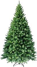 HXT 1101, hochwertiger künstlicher Weihnachtsbaum mit Metallständer, Minutenschneller Aufbau mit Klappsystem, schwer entflammbar