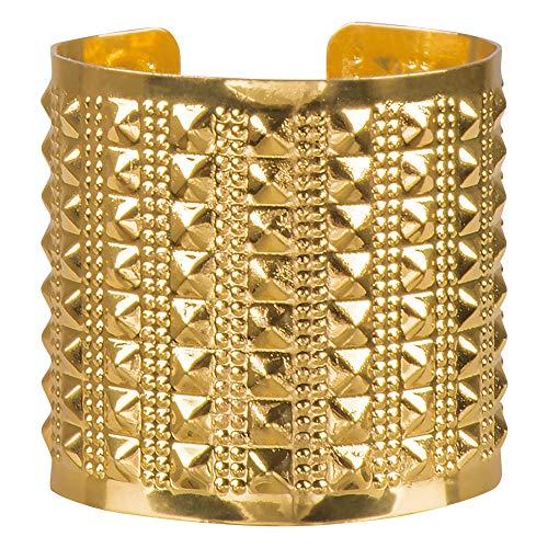 WOOOOZY Armreif Mittelalter, breit Gold