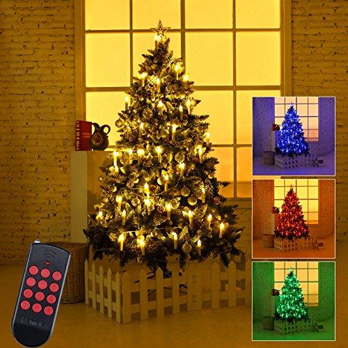 Yorbay K510a a + +, LED Velas de Navidad, tamaño: M, plástico, multicolor, 43,5x 32,5x 3cm