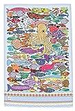 PESCE STROFINACCIO di MollyMac - Polpo Salvietta - Panno di Cucina Colorato - Made in United Kingdom - 100% cotone - 71 x 46 mm