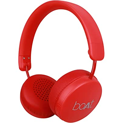 boAt Rockerz 440 Wireless Bluetooth Headset with in Built Mic  Red