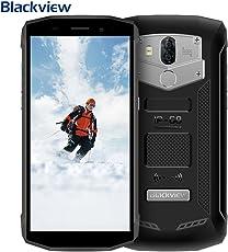 """【2018 Aggiornato】Blackview BV5800 Smartphone, IP68 Impermeabile, Antipolvere e Antiurto Rugged Smartphone, Fotocamera 13mp + 8MP con Batteria 5580mAh & 5A/2A Carica Veloce, 5.5"""" IPS HD+ 18:9 Schermo Intero Android 8.1 Oreo Dual 4G LTE SIM Telefono, OTG/ GPS/ GLONASS/ NFC/ WiFi/ Bussola/ Impronta Digitale- Nero"""