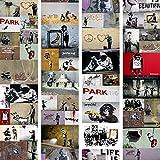 murando - PURO TAPETE - Realistische Tapete ohne Rapport und Versatz 10m Vlies Tapetenrolle Wandtapete modern design Fototapete - Banksy f-A-0237-j-b
