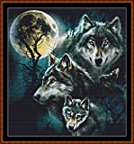 FACES OF THE WOLF (small) - Cross Stitch Chart / Pattern [ PDF on a CD ]
