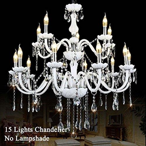 $Beleuchtung Moderner Kristall-Kronleuchter, Kronleuchter Led Beleuchtung Decke, Kronleuchter hängende Licht mit Zweigen für mehrere Glühbirnen oder Kerzen. Innenleuchten (größe : 10+5 heads) -