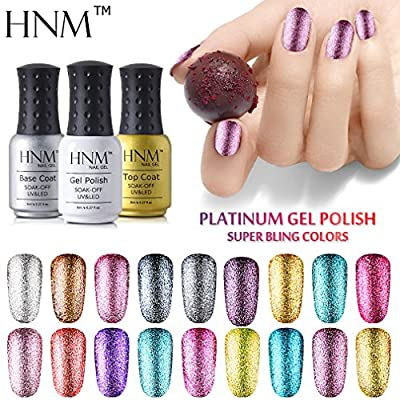 HNM Gel Polish Platinum Colour UV LED Soak Off Nail Varnish Manicure 10ml (58001)