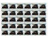 hocz Set di 30 vasetti in Vetro per Conserve, capacità 30 ml, Colore Coperchio: Bianco, Diametro: 43 mm