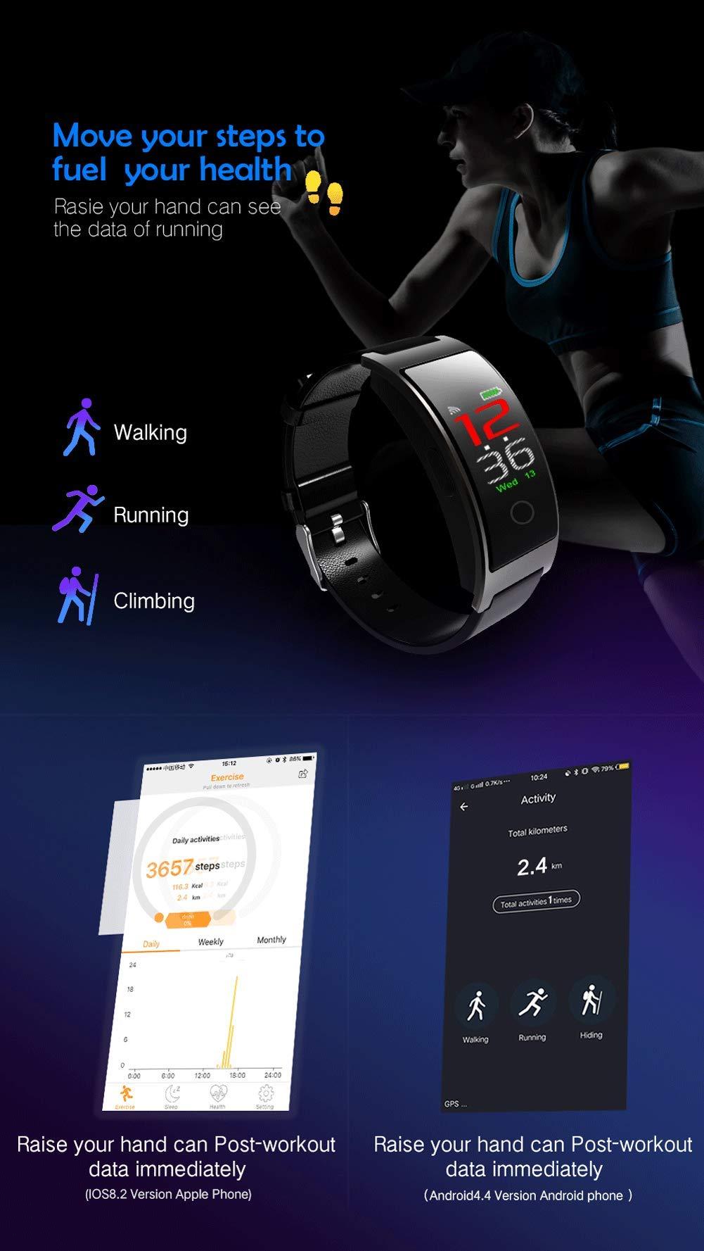 SPORS Fitness Tracker cinturón Impermeable Ritmo cardíaco presión Arterial sueño Monitor podómetro Reloj Inteligente… 7