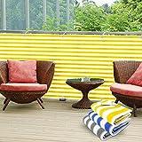 Divisorio da balcone in PVC casa pura® | Separè protettivo | Giallo/Bianco | 90x500 cm