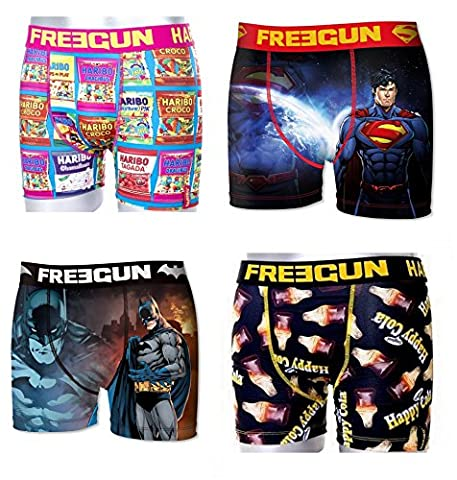 Boxer Batman - Lot 4 Boxers Freegun Collection Premium (10