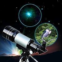 Mixen 90X High Power Refractor Monocular Astronomical Telescope for Kids with Portable Tripod Monocular Telescope