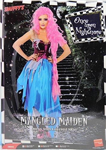 Damen Rapunzel Kostüm Halloween Damenkostüm Halloweenkostüm Gr. 40/42 (M), 44/46 (L), Größe:M (Halloween-kostüme Rapunzel)
