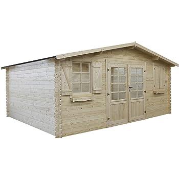 Habitat et Jardin - Abri jardin bois - 19,72 m² - 4.64 x 4.25 x 2,32 ...