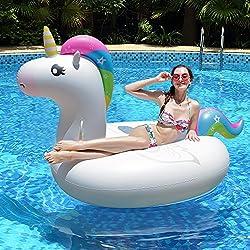 Innoo Tech Flotador Hinchable de Unicornio para Piscina, Diseño de Verano 2018, Material Seguro, Gigante, Tumbona de Juguete de Playa para Fiesta, Adultos, Mujeres, Niños y Niños Pequeños