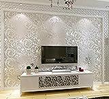 Semplice stile europeo parete parete-non-tessuto tessuto carta da parati soggiorno TV sfondo , [] silver cloth