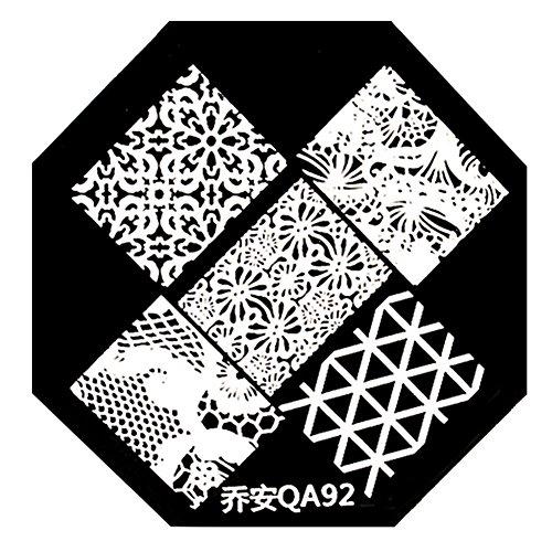 Born Pretty 1 Plaque De Stamping Motifs Intégraux #QA92
