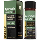 Ustraa Ayurvedic Hair Oil 200ml - with 8 Natural Herb extracts, Controls hair fall, Fights Dandruff, Ayurvedic Nourishment fo
