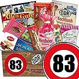 DDR Produkte ++ Geburtstags Geschenk Mutter ++ Zahl 83 ++ Süßigkeiten Box