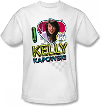 Saved By The Bell - I Love Kelly Slim Fit Adult T-Shirt In White