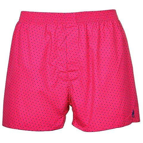 Thomas Pink Men's Cotton Woven Boxer Short (Medium, Hockney Pink)