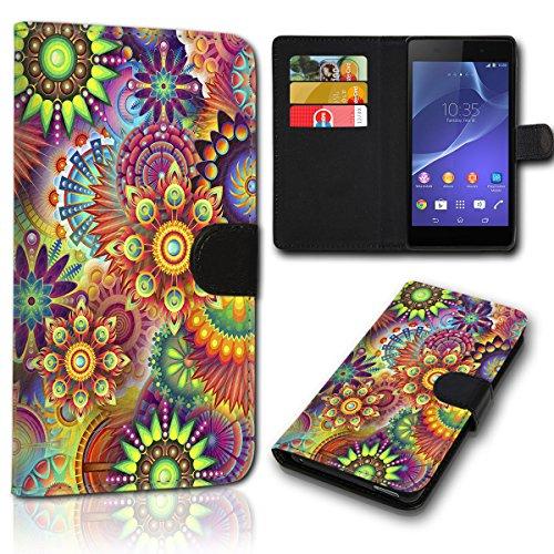 Book Style Wiko Rainbow Lite Tasche Flip Brieftasche Handy Hülle Kartenfächer für Wiko Rainbow Lite - Design Flip SVH33