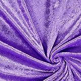 Fabulous Fabrics Pannesamt Flieder – Weicher SAMT Stoff zum Nähen von Kleider, Oberteile, Tücher und Tischdecke - Pannesamt Dekostoff & Bekleidungsstof- Meterware ab 0,5m