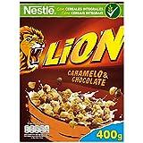 Lion - Cereales con Crema de Caramelo y Chocolate - 4 Paquetes de 400 g