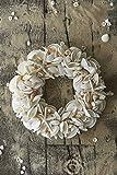 Riviera Maison Muschelkranz Dekokranz aus Muscheln - Summer Starfish - Ø: 37 cm - mit echten Muscheln und Seesternen