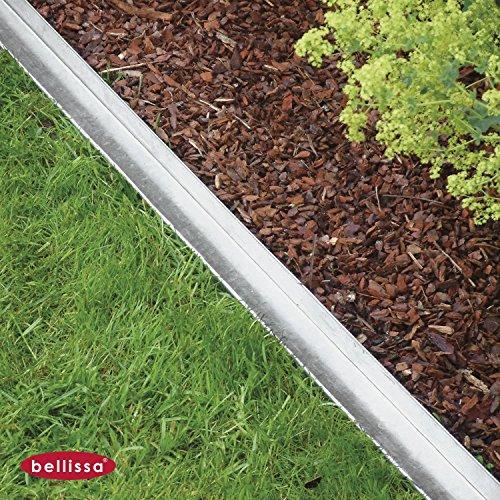Gartenwelt Riegelsberger 1 Stück Rasenkante Comfort verzinkt 118x9 cm Beetumrandung Rasenbegrenzung Beeteinfassung