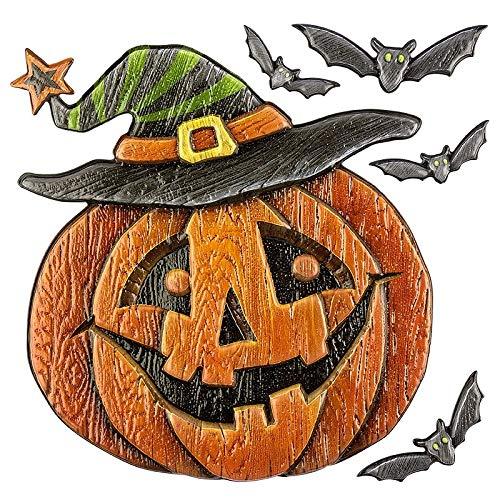 Sticker | Aufkleber | Abziehbilder | Stickerbögen mit diversen Motiven | Halloween | Bogengröße 18 x 17,5 cm (Kürbis Holzoptik) (Halloween-kürbisse Für Ideen)