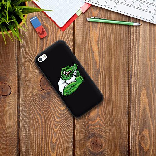 iPhone SE iPhone 5 5S Hülle, WoowCase Handyhülle Silikon für [ iPhone SE iPhone 5 5S ] Lippen Gay Flagge Handytasche Handy Cover Case Schutzhülle Flexible TPU - Rosa Housse Gel iPhone SE iPhone 5 5S Schwarze D0053