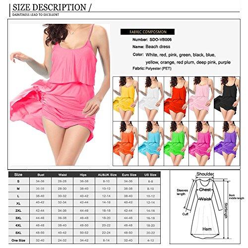 Sidiou Group Kleid für Urlaub,Strandkleid von 90% Polyester,Strandkleid, dass er schöne Kurven von Frauen zeigen kann, Kleid mit Bandage. Peachpuff