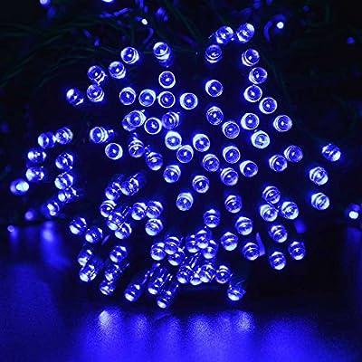 lederTEK Solar Powered Waterproof Fairy String Lights 72ft 22m 200 LED 8 Modes Christmas Decorative Lamp for Outdoor, Garden, Home, Wedding, Xmas Tree New Year Party by lederTEK