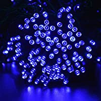 lederTEK Solar Powered Waterproof Fairy String Lights 72ft 22m 200 LED 8 Modes Christmas Decorative Lamp for Outdoor, Garden, Home, Wedding, Xmas Tree New Year Party (White) 10