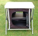 Campingschrank Faltschrank mit 2 Einlegeböden 60 x 44 x 60