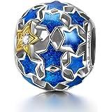 NINAQUEEN® Charms Abalorios - Te Amo Charm Plata de Ley 925 Dia de la Madre Regalos Originales para Mujer Regalo para Ella Re