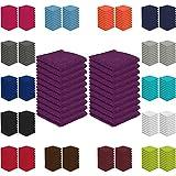 20er Pack Seiftücher Sparpreis in vielen Farben 30x30 cm 100% Baumwolle, Lila