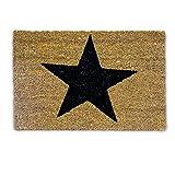 Relaxdays 10019009 Fußmatte Stern aus Kokosfaser