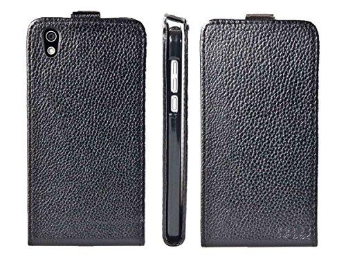 caseroxx Hülle/Tasche Flip Cover passend für Medion Life X5004 MD 99238, Schutzhülle (Handytasche klappbar in schwarz)