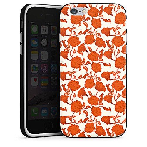 Apple iPhone 4 Housse Étui Silicone Coque Protection Fleur Feuilles Vrilles Housse en silicone noir / blanc