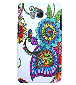 Citydreamz Traditional Rangoli Design/Floral Design/Beautiful Texture Print/Abstract Hard Polycarbonate Designer Back Case Cover For Samsung Galaxy On5