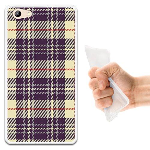 WoowCase Doogee Y300 Hülle, Handyhülle Silikon für [ Doogee Y300 ] Kreuz Schottenkaro Material Handytasche Handy Cover Case Schutzhülle Flexible TPU - Transparent