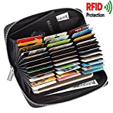 Monedero de las señoras de la tarjeta de crédito Cartera de cuero RFID de bloqueo Multi Pasaporte...