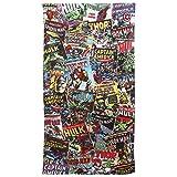 Marvel Comics Jungen Bade-/Strandtuch, Comic Book Print (70 x 140 cm) (Bunt)